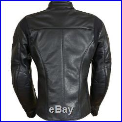 30% OFF Richa KELLY Femme Cuir Noir Elegant Extensible Panneau Veste Moto