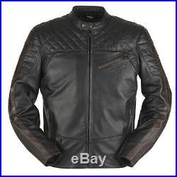30% de Réduction Furygan Legend Noir Cuir Moto Vintage / Cruiser Veste