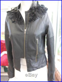 36 NEUVE authentique GIVENCHY veste blouson beau cuir lisse EH EH MAGNIFIQUE