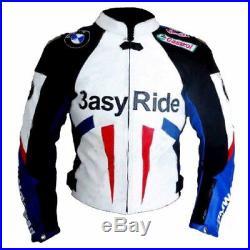 3asy Ride BMW BIKER CUIR VESTE MOTO CUIR VESTE VÊTEMENT EN CUIR MOTORBIKE EU-52