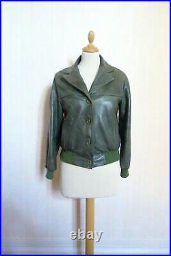 70's Blouson cuir Cassandre femme made in France vintage