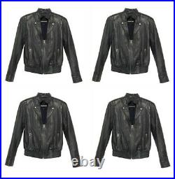 AMERICAN RETRO 620 Blouson veste perfecto cuir NEUF ETIK BNWT Leather jacket 40