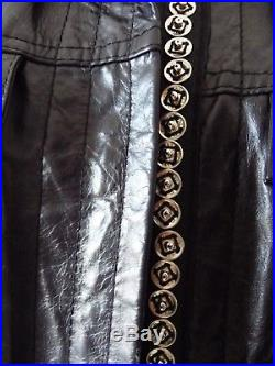 ANN DEMEULEMEESTER Marque de luxe Veste blouson en cuir noir neuf taille 38