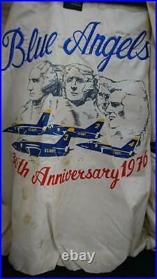 AVIREX G-1 Veste Cuir Blouson Marron Bleu Ange U. S Marine Homme S DE Japon