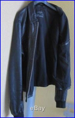 All Saints Veste Blouson Cuir noir XL Black leather Jacket