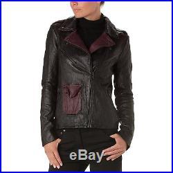 American Retro Gina Perfecto Veste Femme 36 Blouson Luxe Cuir Small Blazer Neuf