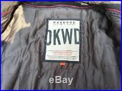 Ancien blouson veste OAKWOOD cuir vintage homme, moto perfecto, schott, vachette