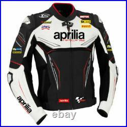 Aprilia Hommes Motard Cuir Courses Armure Protecteur Sport Réplique Moto Veste