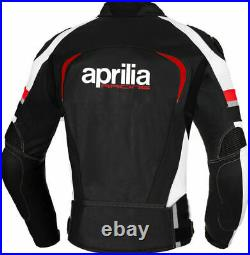 Aprilia Hommes Moto Veste en Cuir Courses MOTOGP Vestes de Motard en Cuir