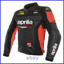 Aprilia RSV4 Hommes Moto Veste en Cuir Courses MOTOGP Vestes de Motard en Cuir