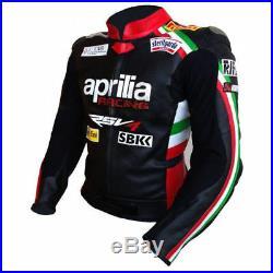 Aprilia Vêtement En Cuir Motorbike Biker Cuir Veste Moto Cuir Veste Eu 52