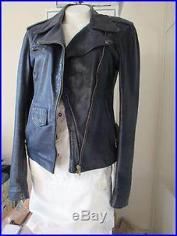 Aqua Leather Manteau Veste Blouson Perfecto Cuir Napa 40 Achete Chez Fourreur