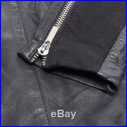Arma Veste en Cuir Gr. De 42 Bleu Veste Femme Veste en Cuir Blouson Motard Veste