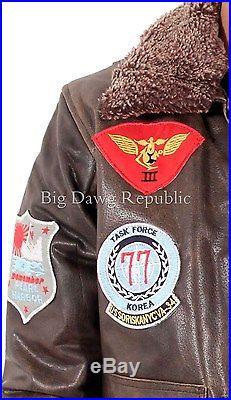 Aviatrix Hommes Garçons US Pilot Volant Antique Blouson Veste Cuir Air Force