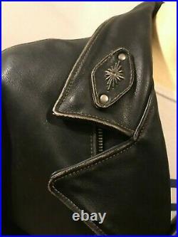 BLOUSON DIESEL MOTARD PERFECTO, Size52 VIEILLI, EPAIS En Tres Bon Etat AFFAIRE