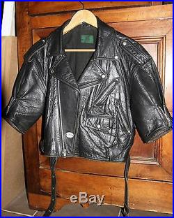 BLOUSON PERFECTO JP GAUTHIER Veste Vintage Cuir noir (Femme ou Junior)