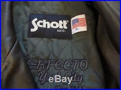 Blouson Schott Perfecto / Veste En Cuir Motard Harley Cruiser