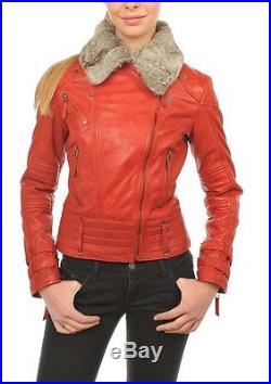 Blouson Veste Cuir Femme Arturo Suzan Bordeaux Ou Rouge T XL
