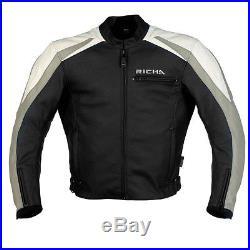 BLOUSON VESTE RICHA CUIR DISTRICT TAILLE 56 Moto Leather Jacket VINTAGE GIACCA