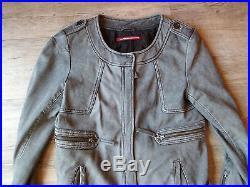 BLOUSON veste cuir agneau femme cintrée /COMPTOIR DES COTONNIERS/ S /BON ETAT