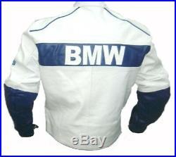 BMW COMPAQ Moto Cuir Veste Hommes Courses Cuir Biker Veste Sports Cuir Veste