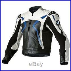 BMW Courses Veste en Cuir de Moto Courses Hommes Vestes de Motard en Cuir EU-54