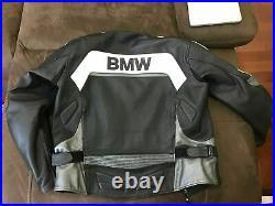 BMW Courses Veste en Cuir de Moto Veste de Motard en Cuir Veste en Cuir Motard