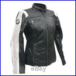 BMW Femmes Moto Veste En Cuir Giacca di pelle Moto Motocicleta Chaqueta de cuero