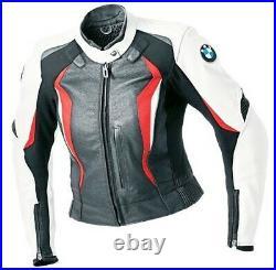 BMW Femmes Moto Veste en Cuir Courses MOTOGP Motard Blousons Cuir Armure CE