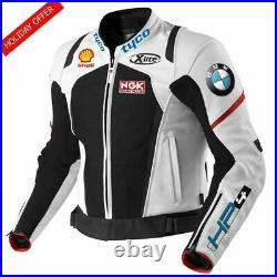 BMW HP4 TYCO Hommes Moto Veste en Cuir Courses MOTOGP Motard Blousons Cuir CE