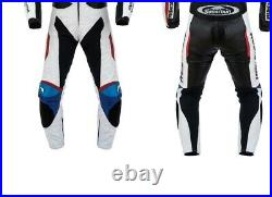 BMW Homme Pantalon en Cuir de Moto Courses MOTOGP Vestes de Motard en Cuir CE