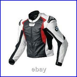 BMW Hommes Moto Veste en Cuir Piste Courses MOTOGP Vestes de Motard en Cuir CE