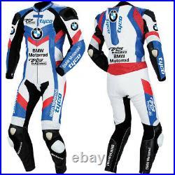BMW Motard Moto Hommes Veste Armure Protecteur CE Costume Cuir Rue Courses