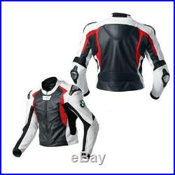 BMW Moto Cuir Veste Hommes Courses Cuir Biker Veste BMW Sports Cuir Veste EU-56