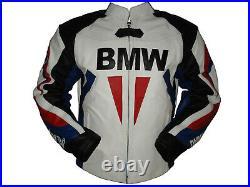 BMW Motorrad Veste en Cuir de Moto Veste de Motard en Cuir Veste en Cuir Motard