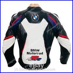 BMW RR Veste en Cuir Motard Veste en Cuir de Moto Veste de Motard en Cuir 48,52
