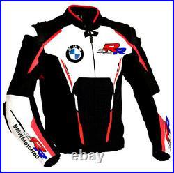 BMW S1000RR Hommes Moto Veste en Cuir Courses MOTOGP Vestes de Motard en Cuir CE