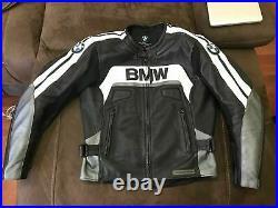 BMW Veste en Cuir de Motard Courses Veste en Cuir de Moto Veste Motard en Cuir