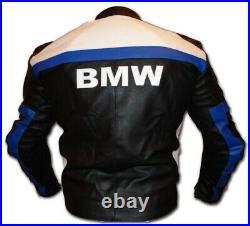 BMW Veste en Cuir de Moto Courses Hommes MOTOGP Vestes de Motard en Cuir 46-60
