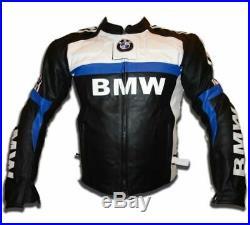 BMW Veste en Cuir de Moto Hommes Courses Vestes de Motard Motorcycle Jacket