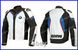 BMW Veste en Cuir de Moto Veste Hommes Motard en Cuir Veste en Cuir de Motard 54