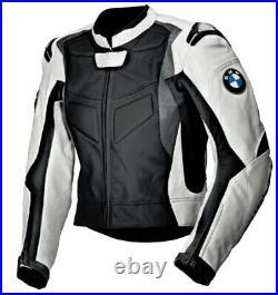 BMW Veste en Cuir de Moto Veste Motard en Cuir Hommes Veste en Cuir de Motard 50