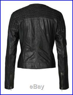 BOGNER Jeans Alicia Veste en cuir/blouson motard, taille XS, S, M, L, XL WOW