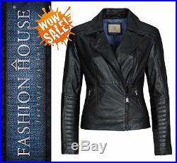 BOGNER Jeans GILDA Veste en cuir/Blouson motard, Gr. L NEUF (6043 400)