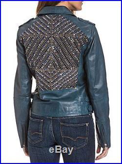 BOGNER Jeans LYDIA Veste en cuir / Blouson motard, taille XS, S, M, L, XL NEUF