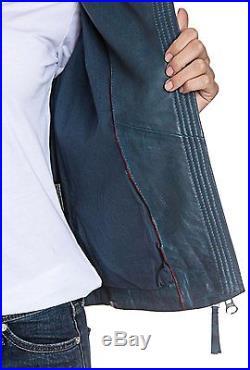 BOGNER Jeans Lydia Veste en cuir/blouson motard, taille XS, S, M, L, XL NEUF