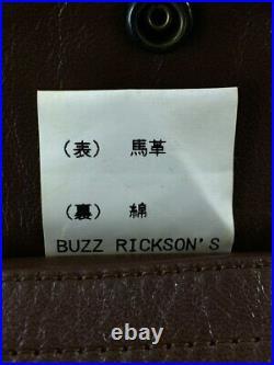 BUZZ RICKSON'S Authentique A-2 Cuir de Cheval Veste Blouson Marron Taille 36 Usé