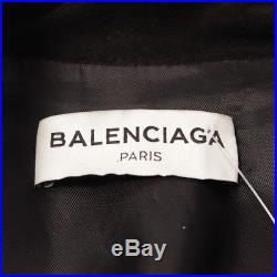 Balenciaga Veste en Cuir Gr. De 34 Fr 36 Noir Veste Femme Cuir Blouson Motard