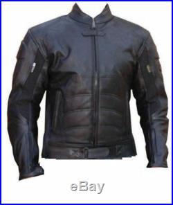 Batman Hommes Moto Course Vestes Noir Cuir Motard Sport Armure Protecteur Fermez
