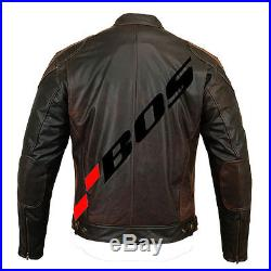 Biker Blouson Veste Moto En Cuir Vachette Neuf Motard. S-5XL